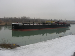 barge Houston on delivery voyage with tug Eileen M