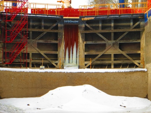 0aa5Lock 27 Mitre sill (upper) , mitre gates, dam (1024x768)