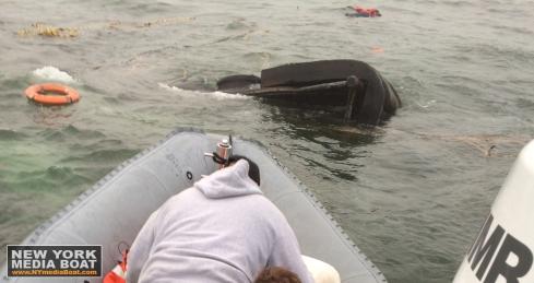 20140115 Sea Lion Sinking New York Media Boat
