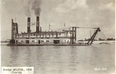 0aab2Dredge Welatka Florida 1938