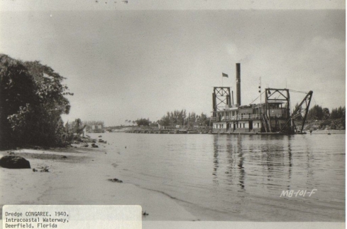 0achs4Dredge Congaree intercostal Water Way - 1940