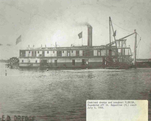 0achsDredge and Snagboat Florida - 1918