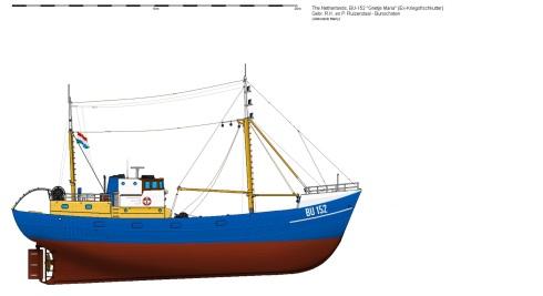 av4Kotter BU-152 Grietje Maria Ex-Kriegsfischkutter Shaded version