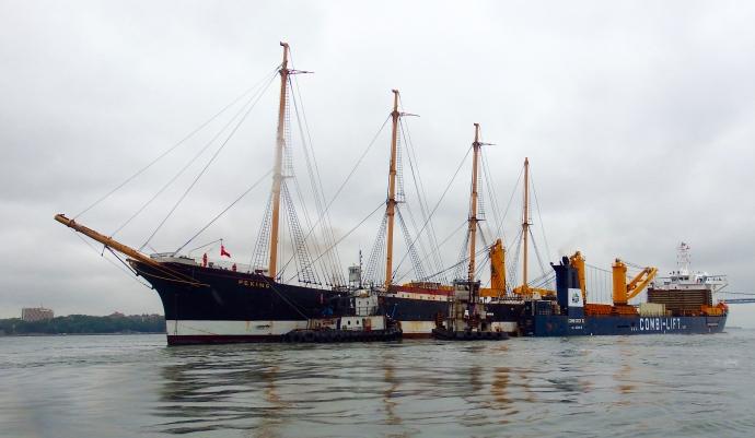 Peking being moved on to Combi Dock III.